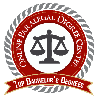Top Bachelor's Degrees - Online Paralegal Degree badge