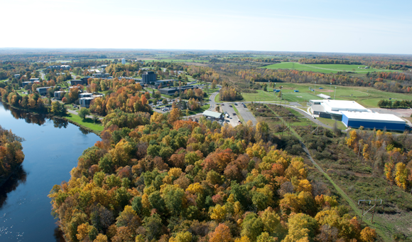 Campus aerial from north