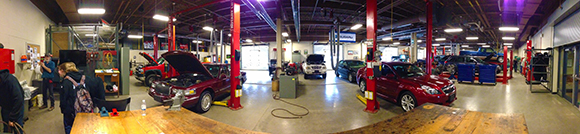 Panoramic view of the Auto Lab