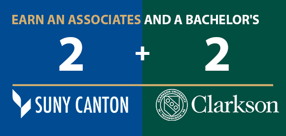 2+2 with Clarkson University - Earn an Associates and a Bachelor's