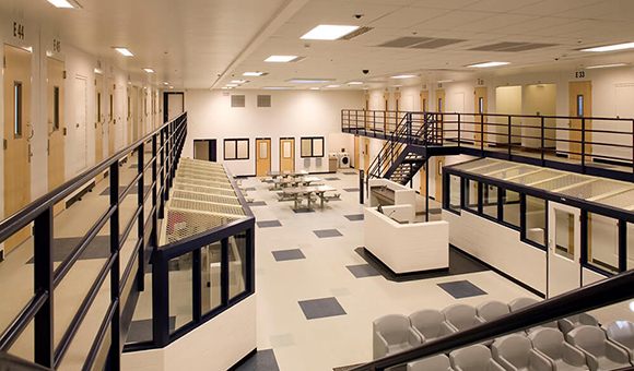 Interior of the St. Lawrence County Corrections facility