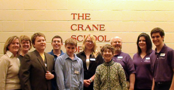 Faculty gather at the Crane School of Music