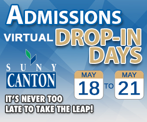 SUNY Canton College Foundation to Cover Application Fees for  Virtual Admissions Event Attendees