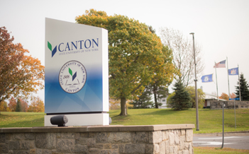SUNY Canton entrance sign