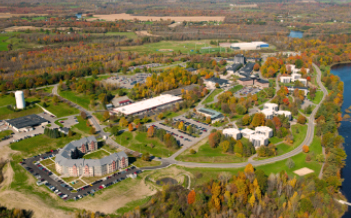An aerial view of the campus