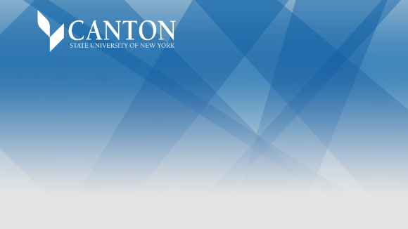 SUNY Canton logo with blue background