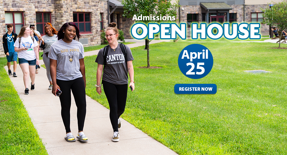 Admissions Open House - April 4 - Students walking to class.