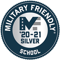Military Friendly School Silver 2020-21 badge