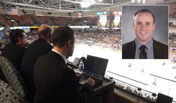 John Payne '13 internship with the AHL's Manchester (New Hampshire) Monarchs, farm team for the Los Angeles Kings Hired full-time after internship as Inside Sales Representative.