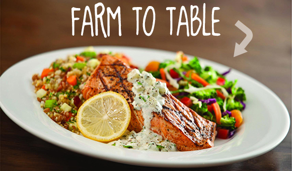 Farm to Table: Salmon Dinner with rice and veggies